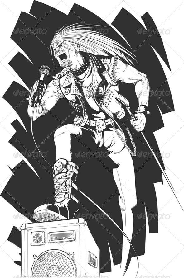 Sketch of Rocker - People Characters