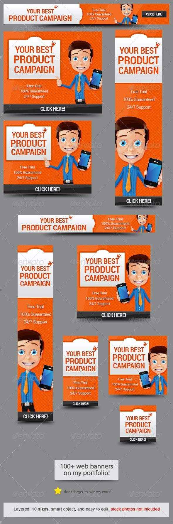 Business App Web Banner Design - Banners & Ads Web Elements