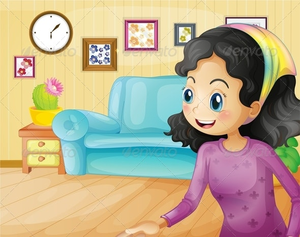 Happy Mother at Home - People Characters