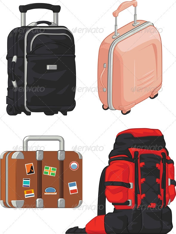 Travel Suitcase and Bag Set - Travel Conceptual