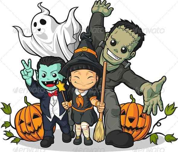 Happy Halloween Characters - Halloween Seasons/Holidays