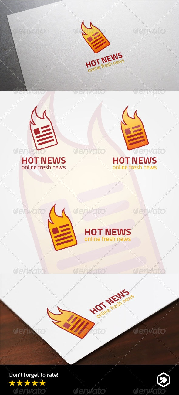 Hot or Fresh Online Newspaper Logo - Objects Logo Templates