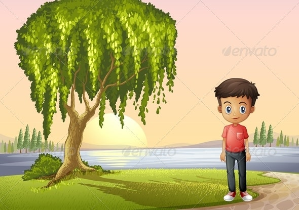 Boy at the River - People Characters