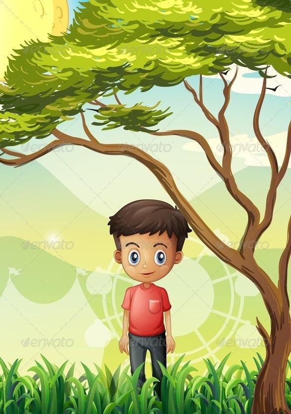 Boy in a Field - People Characters