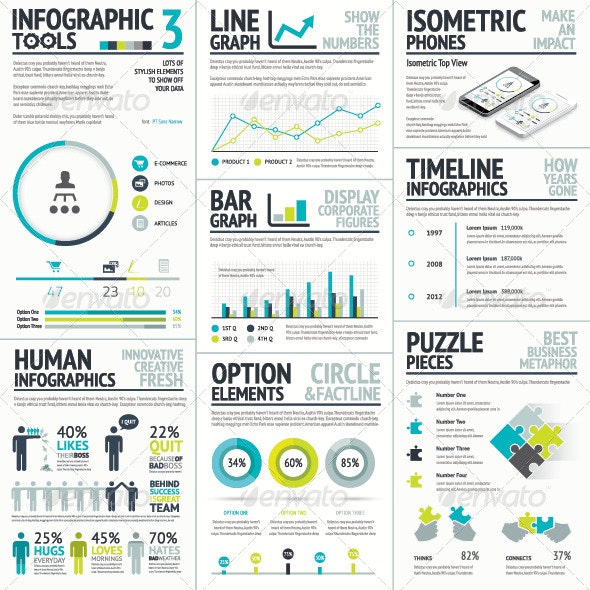 Business and Human Vector Infographic Element Set - Infographics