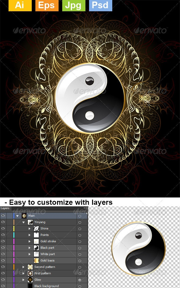 Symbol Yinyang  - Decorative Symbols Decorative