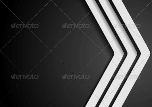 Abstract Dark Background with White Arrows - Abstract Conceptual