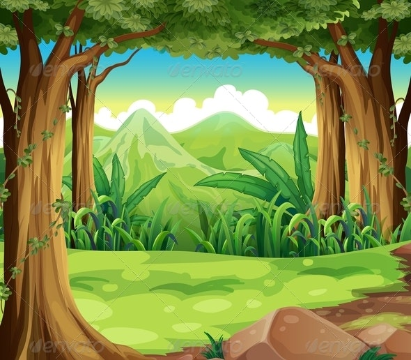 Forest and Mountains - Nature Conceptual