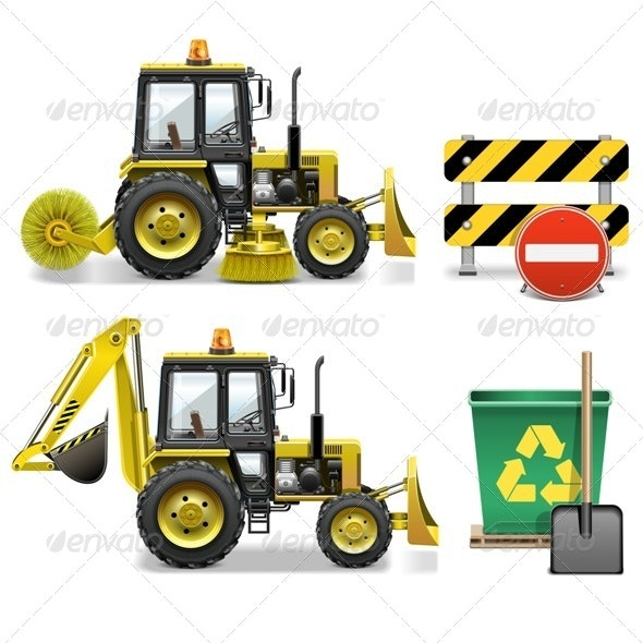 Street Cleaning Icons - Industries Business