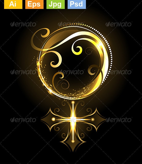 Golden Symbol of Venus - Decorative Symbols Decorative