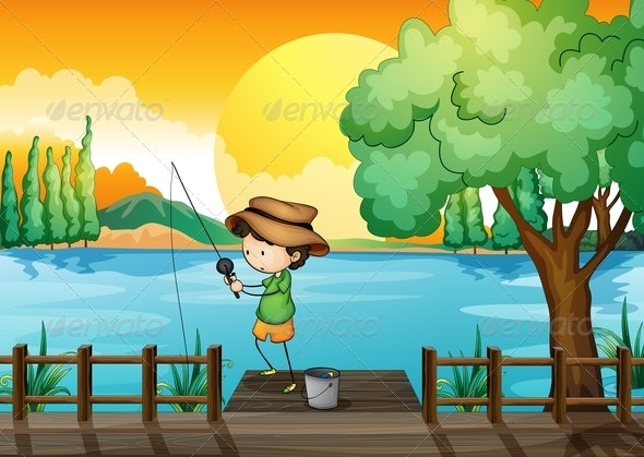 Man Fishing - People Characters