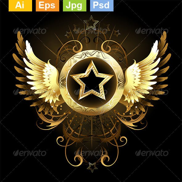 Star with Golden Wings