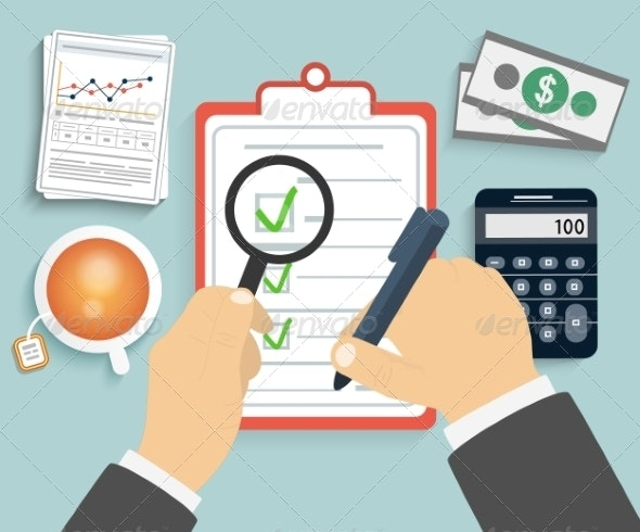 Businessman Checks a Document - Concepts Business