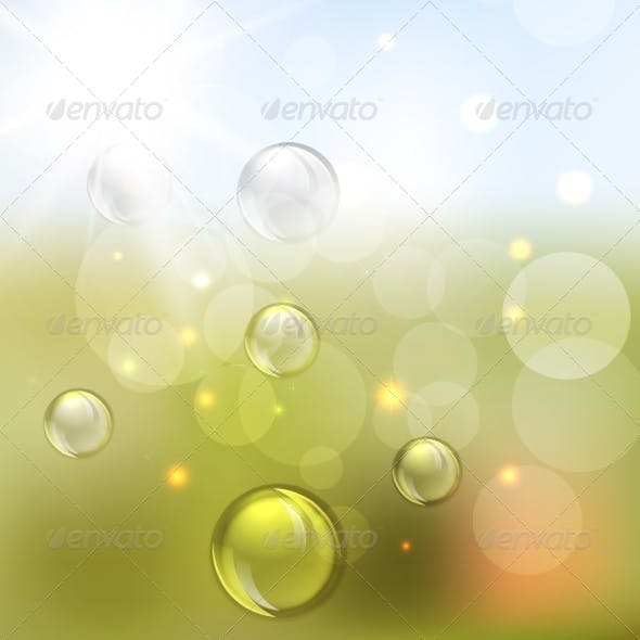 Summer Abstract Background with Lights