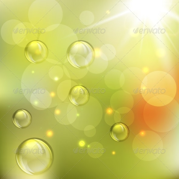 Summer Abstract Background with Lights  - Patterns Decorative