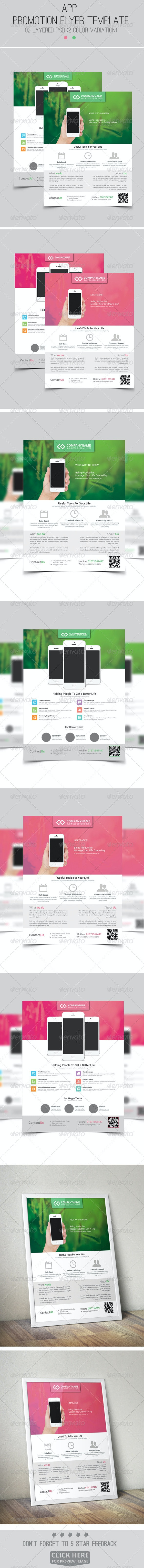 App Promotion Modern Flyer/Poster Template - Flyers Print Templates