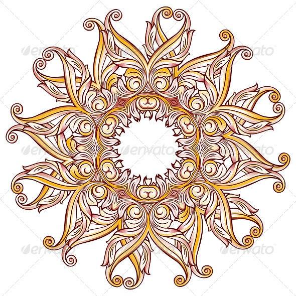Ornate Floral Pattern on White - Patterns Decorative