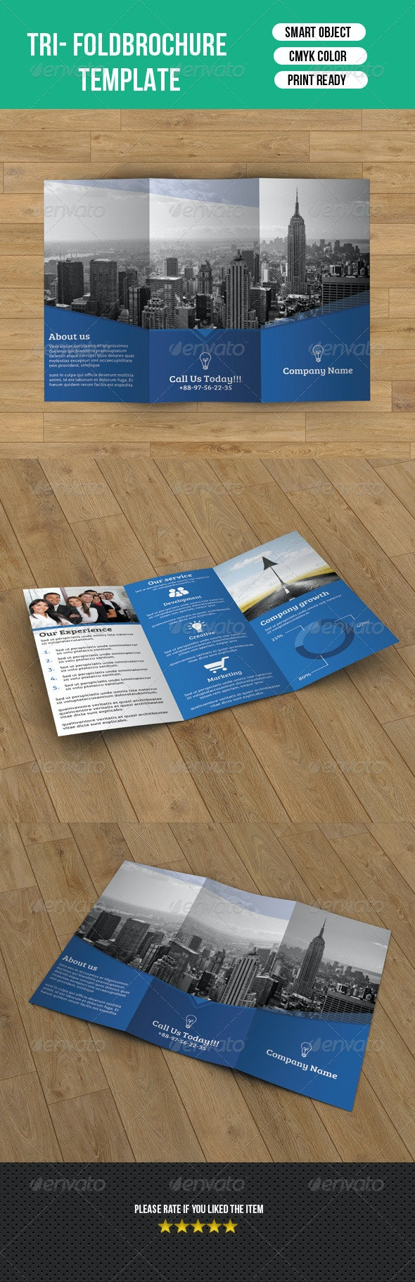 Corporate Trifold Template-V19 - Corporate Brochures