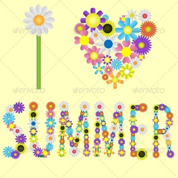 I Love Summer - Seasons Nature