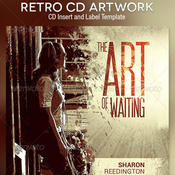 Retro CD Artwork Photoshop Template