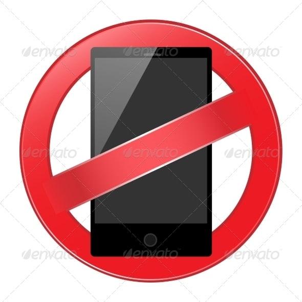 Mobile Phone Forbidden - Web Elements Vectors