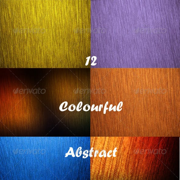 12 Colourful Abstract Backgrounds