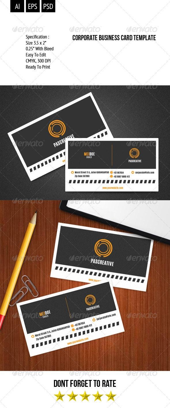 Corporate Business Card Template Vol. 1 - Corporate Business Cards