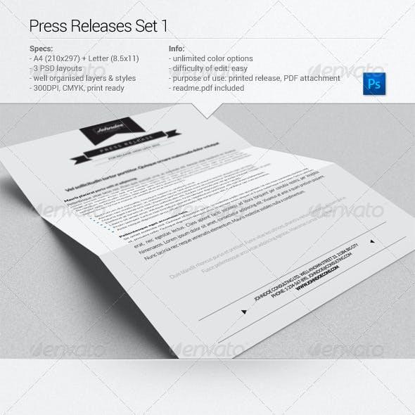 Press Releases Set 1
