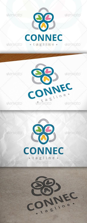 Connect Logo - Vector Abstract