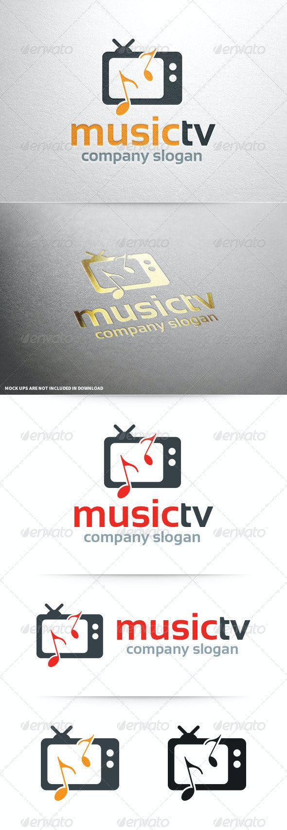 Music TV Logo Template - Objects Logo Templates