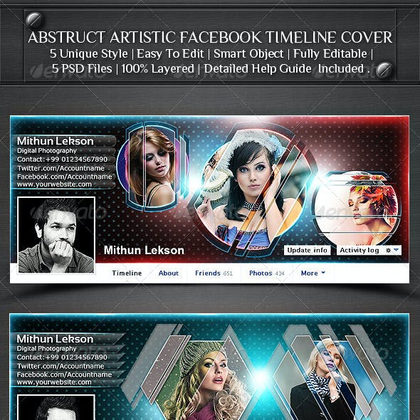 Abstract Artistic Facebook Timeline Cover