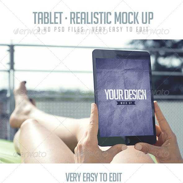 Tablet - Realistic Mock Up