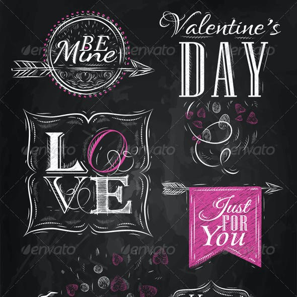 Valentine's Day and Love Lettering Collection