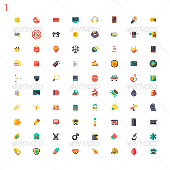 Colored Classic Icons - Miscellaneous Icons