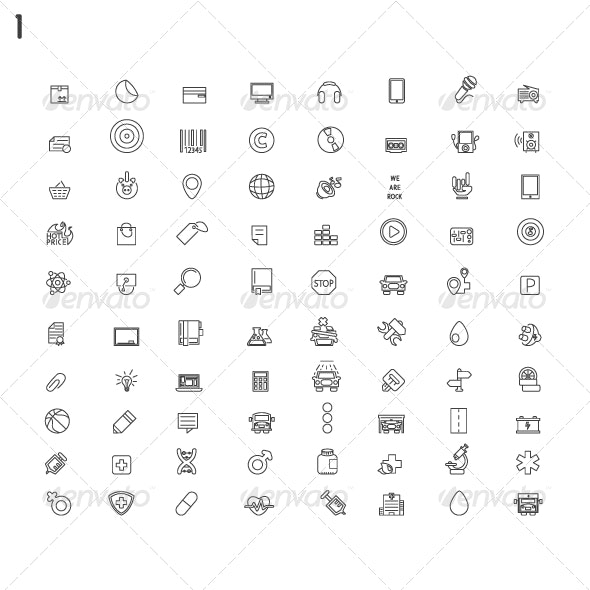 Line Modern Icons - Miscellaneous Icons