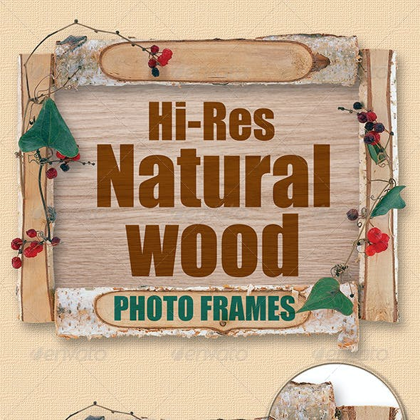 Isolated Natural Wood Frames