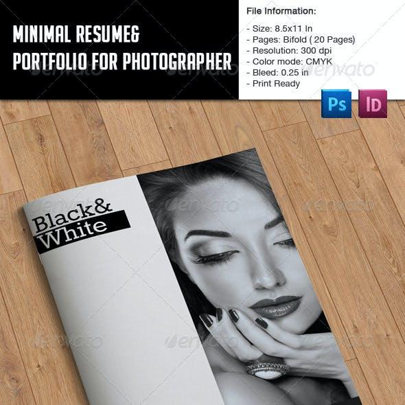 Minimal Resume and Portfolio Booklet
