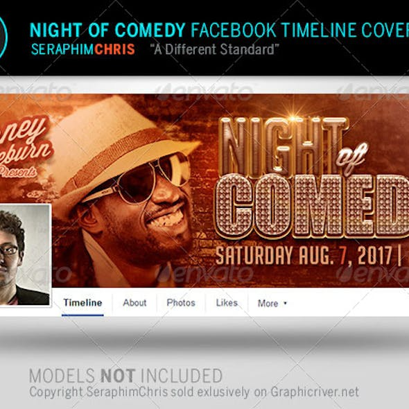Night of Comedy Facebook Timeline Cover Template