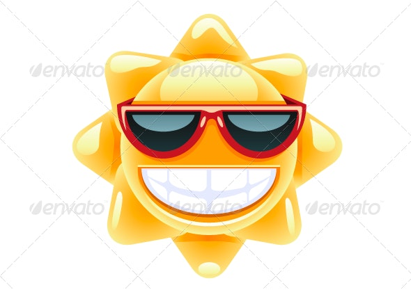 Sun with Red Glasses - Seasons/Holidays Conceptual