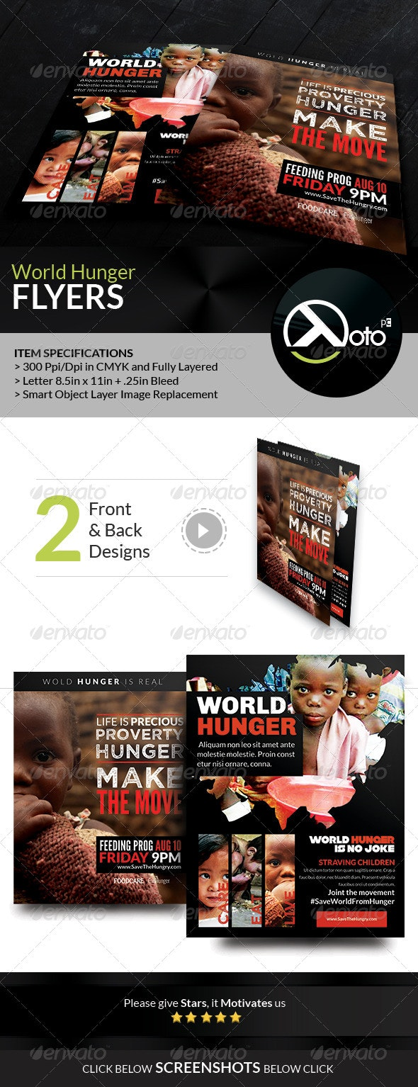 Stop World Hunger Movement Flyers - Flyers Print Templates