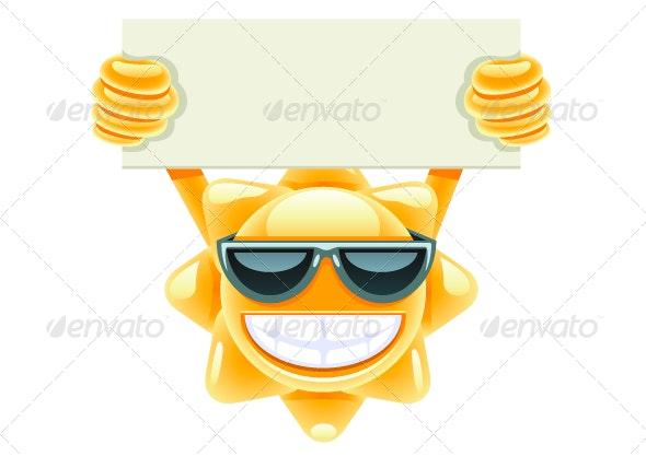 Sun with Message - Seasons/Holidays Conceptual