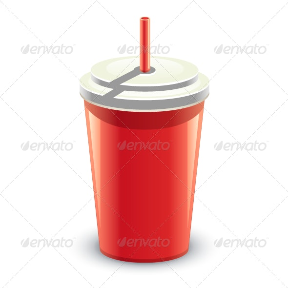 Red Can of Drink - Objects Vectors