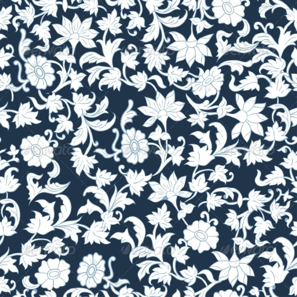 Seamless Floral Watercolor Pattern Background    - Patterns Decorative