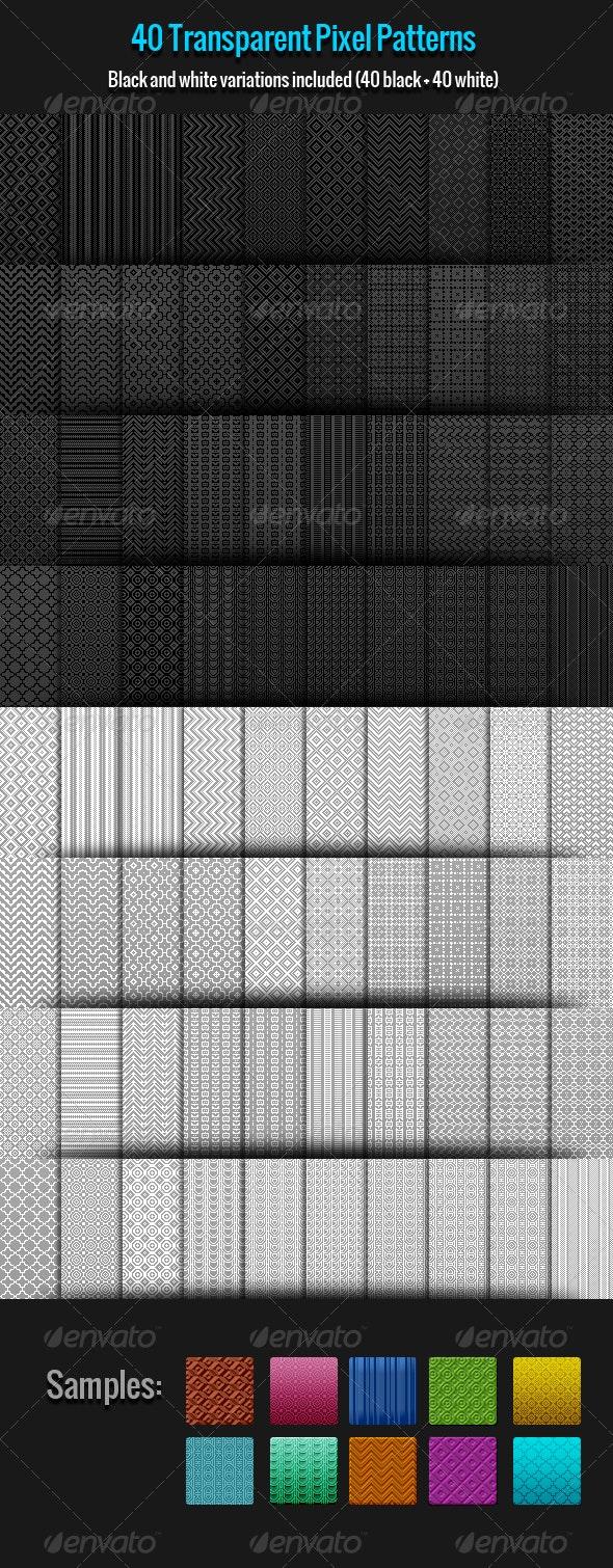 40 Pixel Patterns - Miscellaneous Textures / Fills / Patterns