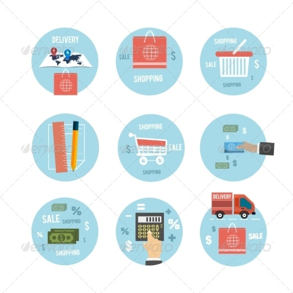 Business, Office and Marketing Items Icons - Concepts Business