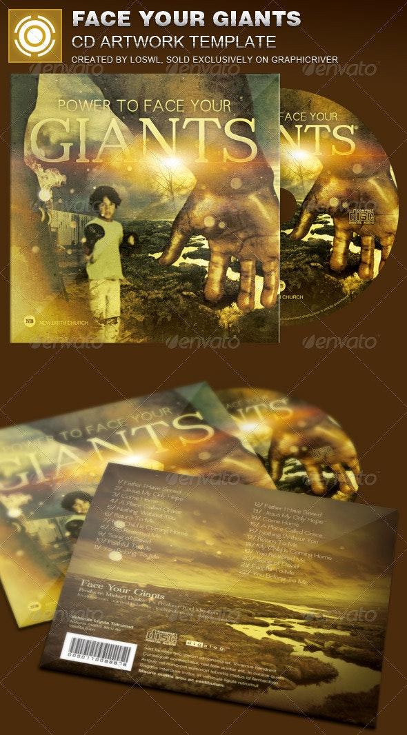 Face Your Giants CD Artwork Template - CD & DVD Artwork Print Templates