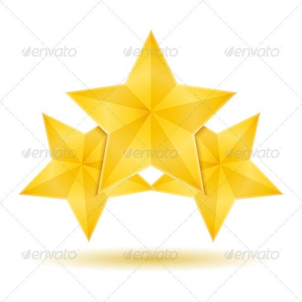 Three Stars - Objects Vectors