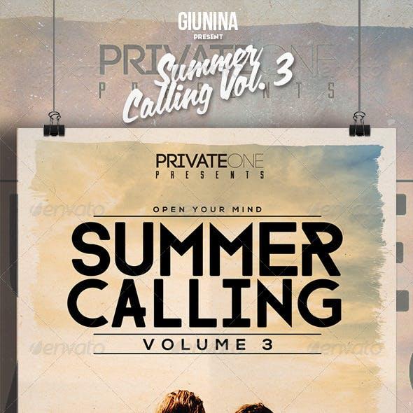 Summer Calling Vol. 3 Flyer/Poster
