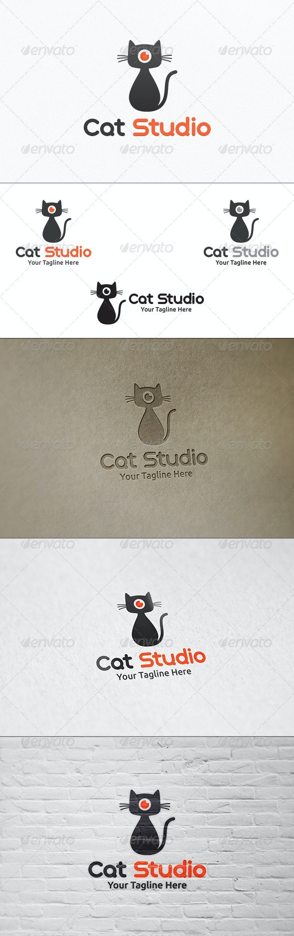 Cat Studio - Logo Template - Animals Logo Templates