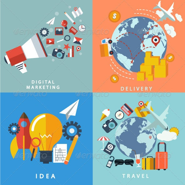 Marketing Icons - Objects Vectors